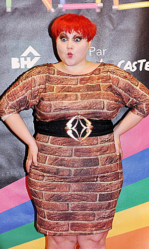 SEE Beth Ditto's cheeky dress