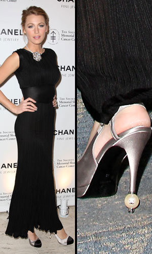 Gorgeous shoe alert: Blake Lively's pearl-point Chanel heels
