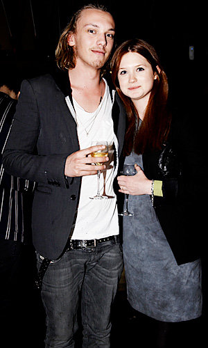Cute couple Jamie Campbell Bower and Bonnie Wright arrive together for Cherrybomb screening.