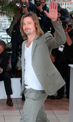 Brad Pitt brings cool to Cannes!