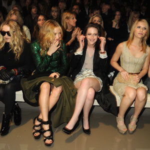 Burberry's all-star front row at London Fashion Week
