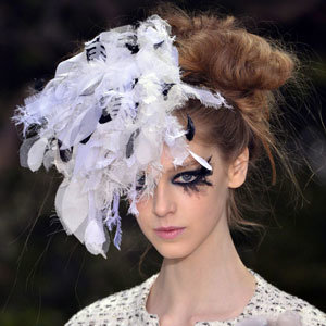 Chanel's Spring 2013 haute couture fashion show: Theatrical make-up wows