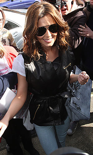 PICS: Cheryl Cole wows in spring leather