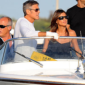 George Clooney and new girlfriend hit Venice