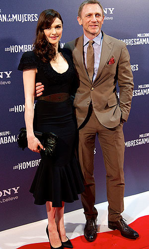 Rachel Weisz and Daniel Craig hit the red carpet with Rooney Mara for The Girl With The Dragon Tattoo premiere…