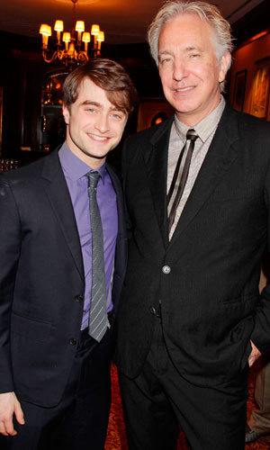 Harry and Snape reunited! Daniel Radcliffe and Alan Rickman honoured with special Harry Potter luncheon…
