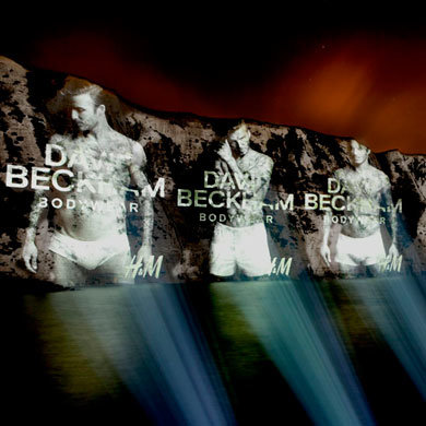 David Beckham's H&M Bodywear campaign lights up the White Cliffs of Dover