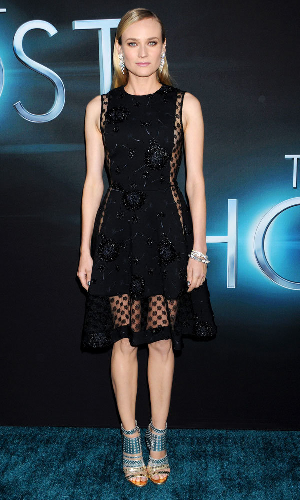 Diane Kruger stuns in sheer Thakoon dress at The Host premiere
