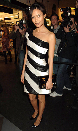 GILES DEACON creates replica of Thandie Newton's dress for New Look