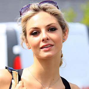 Tamsin Egerton gets lashed at Isle of Wight