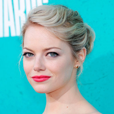 Get Emma Stone's coral lips