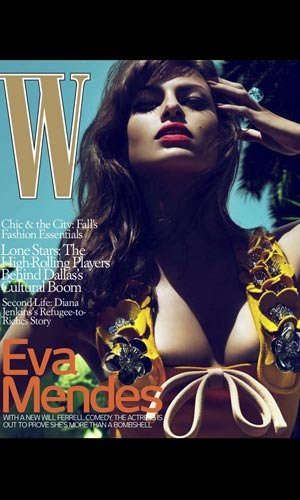 Eva Mendes sizzles on the July issue of W Magazine