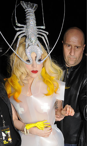 PICS: See Lady GaGa step out in a lobster hat (yes, really!)