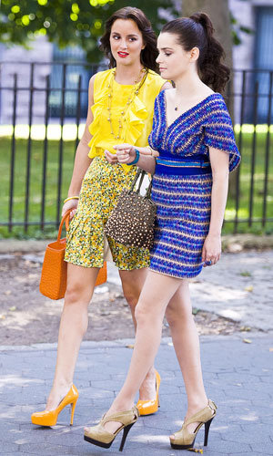 SEE PICS: Leighton Meester on set of Gossip Girl