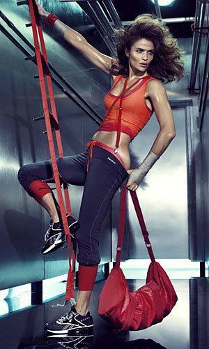 VIDEO: Helena Christensen works out in the buff for Reebok