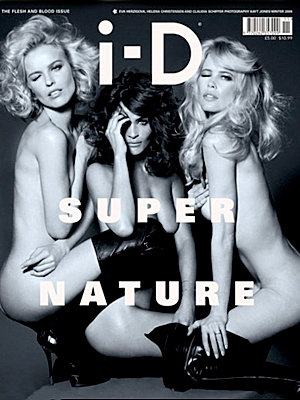 Claudia, Helena and Eva go naked for new front cover