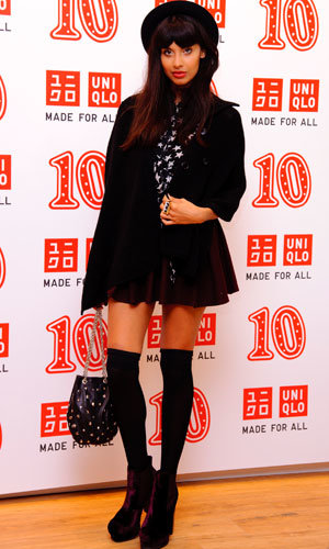 InStyle partied with Jameela Jamil and Rosario Dawson at the Uniqlo 10th anniversary bash