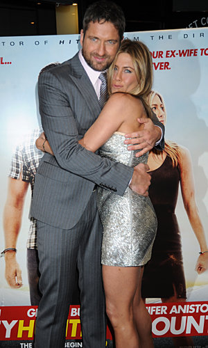 WATCH Jennifer Aniston and Gerard Butler heat up the red carpet in London
