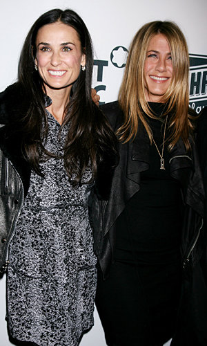 Demi Moore and Jennifer Aniston sparkle on night out together