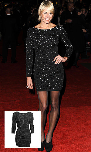 SHOP HER STYLE: Jenni Falconer's glitzy Topshop and Jimmy Choo for H&M dresses!