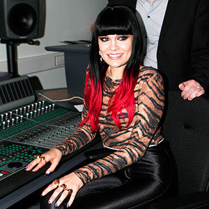 CELEB  HAIR WATCH: Jessie J shows off her dip-dyed hair!