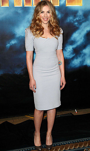 Scarlett Johansson and Gwyneth Paltrow both gorgeous in grey at Iron Man 2 photo call