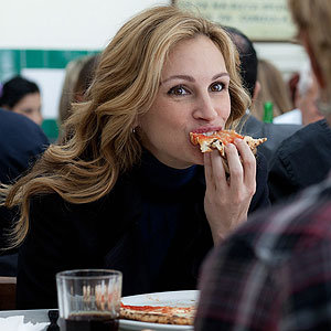 Julia Roberts enjoys Italian food for new movie Eat, Pray, Love!
