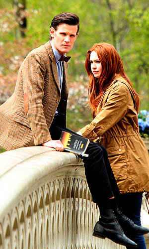 Dr Who's back! Karen Gillan and Matt Smith filming the new series!