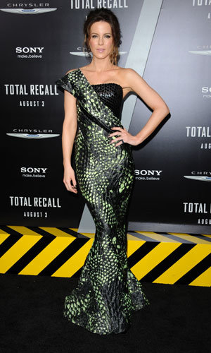 Jessica Biel and Kate Beckinsale style it up at the Total Recall Premiere
