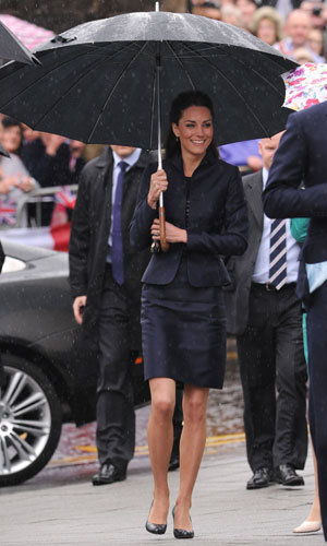 Kate Middleton and Prince William brave the rain for visit to Darwen!