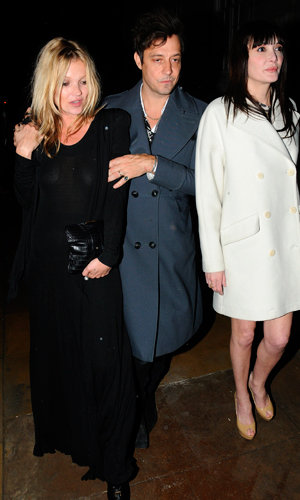 Kate Moss and Jamie Hince party in London!