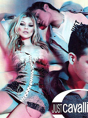 Kate Moss goes all-out glam for latest Cavalli campaign