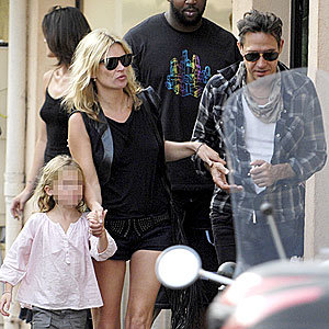 Kate Moss holidays in St Tropez