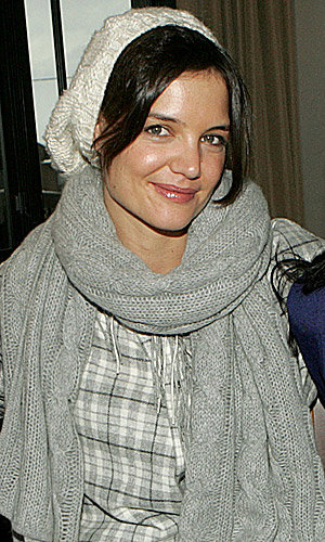 Katie Holmes goes for winter-woolly chic at Sundance Film Festival