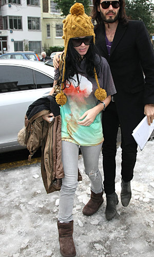 Katy Perry's snow chic Christoper Kane outfit
