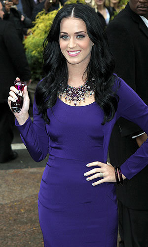 SEE PICS: Katy Perry shows off her new perfume Purr in New York!