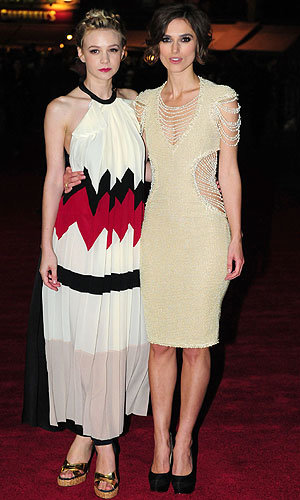 Double dress hit for both Keira Knightley and Carey Mulligan at film premiere!