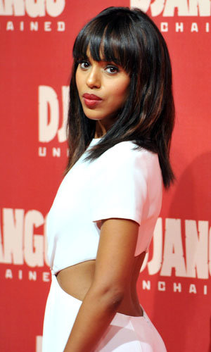 Short hairstyle of the day: Kerry Washington's glossy grown-out bob