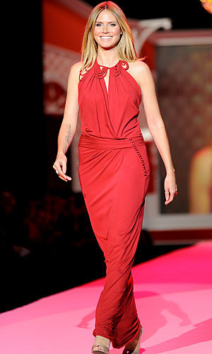 Heidi Klum lights up the catwalk at New York Fashion Week