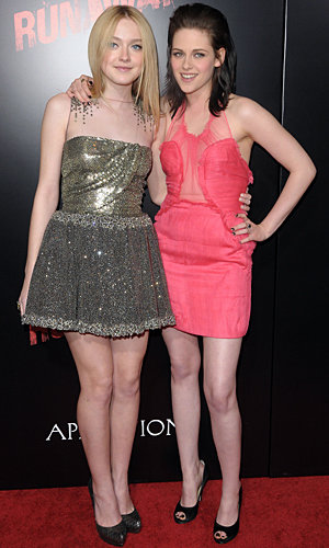 Kristen Stewart and Dakota Fanning wow as they hit the red carpet for The Runaways premiere
