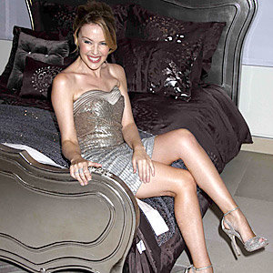 Kylie Minogue wows as she launches new bedlinen range