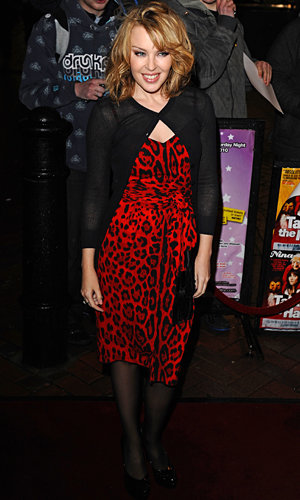 SHOP HER STYLE: Kylie Minogue shows off her wild side in a bold leopard print dress
