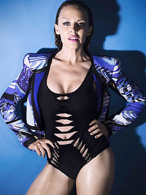 NEW PICS: Kylie Minogue sizzles in new wet-look swimwear photo shoot