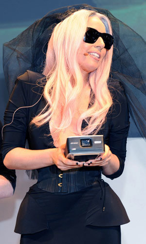 SEE PICS: Lady Gaga brings gadget-glam to technology show!