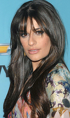 Glee's Lea Michele rocks fab new fringe at Spring Premier Party in Los Angeles