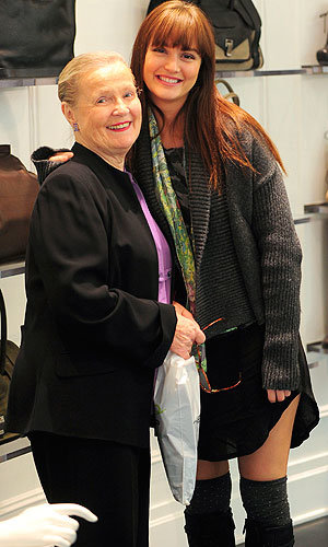 ADORABLE… Leighton Meester takes her gran shopping in New York!