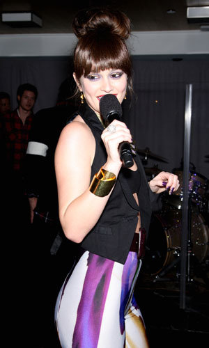 Leighton Meester rocks the house at American Eagle Outfitters launch