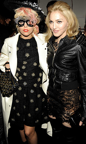 SEE Lady GaGa and Madonna at the Marc Jacobs catwalk show
