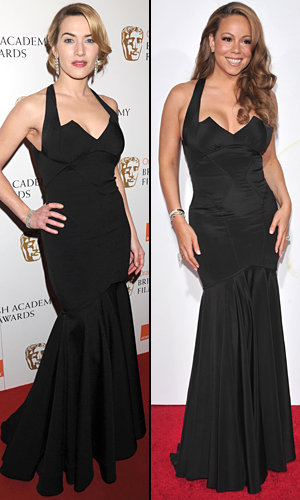 Style Snap: Kate Winslet v Mariah Carey in Zac Posen