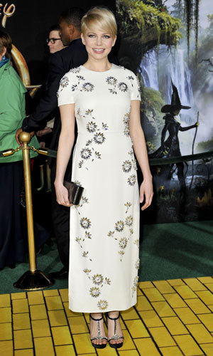 Michelle Williams returns to the red carpet in stunning style at Oz The Great And Powerful premiere